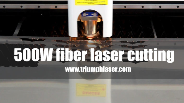 500W fiber laser cutting machine