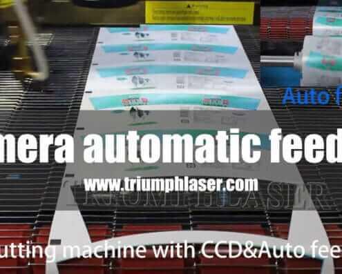 Camera automatic feeding laser cutter