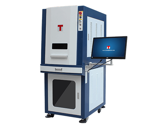 Full Enclosed Cabinet Fiber Laser Etching Machine