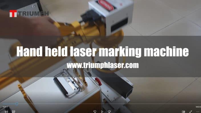 Hand held laser marking machine video