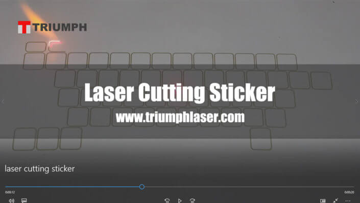 Laser cutting sticker