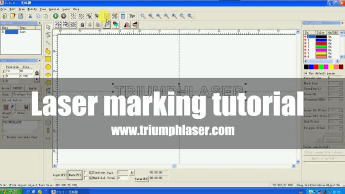 Laser marking tutorial