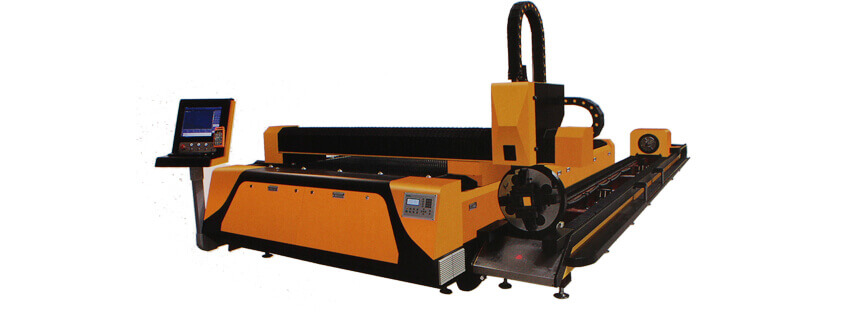 Plate and tube integrated fiber laser cutting machine