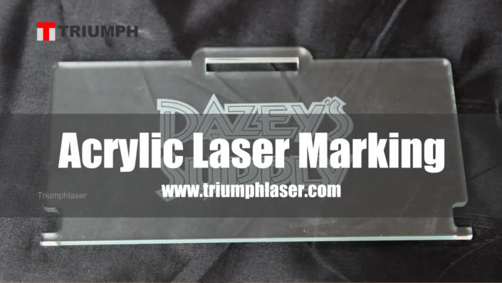 acrylic laser marking white color