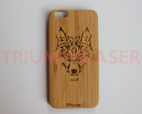 bamboo phone case laser engraving