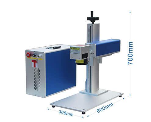 desk style laser marking machine size