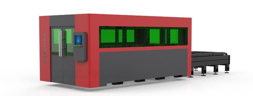 Enclosed sealed surrounded fiber laser cutting machine