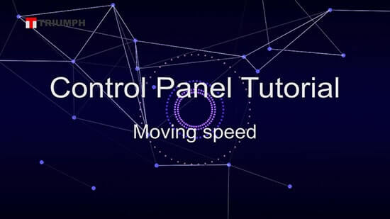 laser control panel tutorial how to change the moving speed of laser head