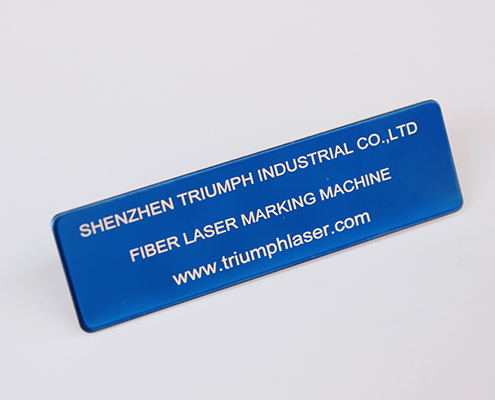 nametag laser marking
