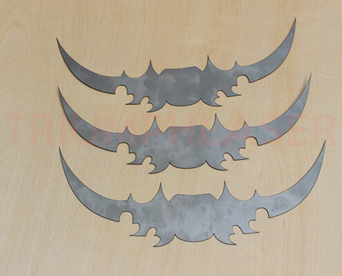 stainless steel laser cutting sample